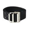 Medline Washable Cotton Material Gait Belts, Black, 1/EA MED MDT821203BS