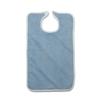 Medline Terry Bib with Hook and Loop Strap, Adult, 10 oz., 18 x 30, Blue, 12 EA/DZ MED MDTAB3B30BLU