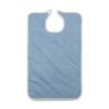 Medline Terry Bib with Hook and Loop Strap, Adult, 10 oz., 21 x 33, Blue, 12 EA/DZ MED MDTAB3B33BLU