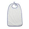 Medline Ez Tie Terry-Cloth Bib, Adult, 12 oz., 21 x 38, White, 12 EA/DZ MED MDTAB5B38WHI