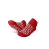 Medline Double-Tread Patient Slippers, Red, Size Small MEDMDTDBLTREADS
