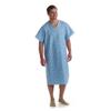 Medline Blended Patient Gowns, Cascade Blue Print, One Size Fits Most MED MDTPG5RTSCAB