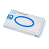 Medline MediGuard ES Powder-Free Nitrile Exam Gloves, Transparent Blue, Medium, 100 EA/BX MED MG100MH