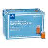 Medline Safety Lancet with Pressure Activation, 21G x 2.2 mm, 2000 EA/CS MED MPHST21