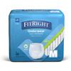 Medline FitRight Extra-Protective Underwear, Medium, 20 EA/BG MED MSC13005AZ