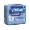 Medline FitRight Double Up Thin Incontinence Booster Pads, 3.5 X 11.5, 24 EA/BG MED MSC326015H