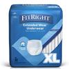 Medline Protection Plus Extended Wear Adult Underwear, X-Large, 12 EA/BG MED MSC53600H