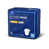Medline Extended Wear High-Capacity Adult Incontinence Briefs, 45- 65, 60 EA/CS MED MTB80600