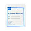 Medline Plastic Patient Belonging Bag with Drawstring, White, 250 EA/CS MED NON026310