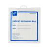 Medline Plastic Patient Belonging Bag with Rigid Handle, White MED NON026320