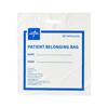 Medline White Plastic Patient Belonging Bag with Patch Handle, 16 x 18 x 4, 250 EA/CS MED NON026350