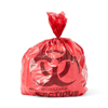 Medline Biohazard Liner, Red, 17 x 17, 1.5 Mil, Flat MED NON151717