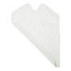 Medline Disposable Waterproof Plastic White Bibs, 15 x 20 MED NON24267A