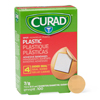 Medline CURAD Plastic Adhesive Bandages, Natural, No, 100 EA/BX MEDNON25501H