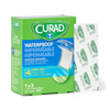 Medline Curad Plastic Waterproof Adhesive Bandage, Sterile, 1 x 3, Natural Color, 1200 EA/CS MED NON25670