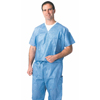 scrub tops: Medline - Disposable Scrub Shirts