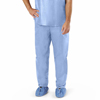 Medline Disposable Scrub Pants, Blue, Large, 30 EA/CS MEDNON27213L