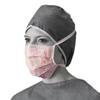 Medline Pink Ribbon Surgical Face Masks MED NONRIBBON