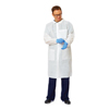 workwear lab coats: Medline - Knit Cuff/Traditional Collar Multi-Layer Lab Coat