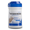 hand sanitizers: Professional Disposables - Antimicrobial Alcohol Gel Hand Wipes Sani-Hands® ALC 6 X 7 1/2 Inch Unscented Canister, 135EA/CN 12CN/CS