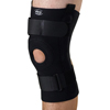 Medline U-Shaped Hinged Knee Supports, Black, 4X-Large, 1/EA MEDORT232204XL