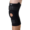 Medline U-Shaped Hinged Knee Supports, Black, X-Large, 1/EA MEDORT23220XL