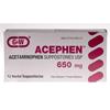 Medline Generic OTC Acetaminophen, Suppositories, 650Mg, 12 Box MED OTC6031260BX