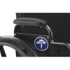 Medline Black Nylon Desk-Length Armrest Pad for K3 Basic Wheelchair MED WCA806915NYL