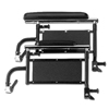 Medline Height-Adjustable Swing-Back Full-Length Armrest Assembly for K4 Lightweight and K4 Basic Wheelchair MED WCA806963K4