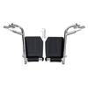 Medline Footrests, Swing-Away, Hemi, Black, Footplate MED WCA806965HCMP