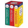 Merriam Webster Everyday Language Reference Set, Dictionary, Thesaurus, Vocabulary Builder MER 3328