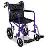 Medline Medline Excel Deluxe Aluminum Transport Wheelchair MII MDS808210ABE