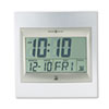 Howard Miller Howard Miller® TechTime II Radio-Controlled LCD Wall or Table Alarm Clock MIL625236