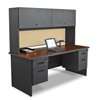 "Desks & Workstations: Marvel Group - Pronto® 72"" Double File Desk w/Flipper Door Cabinet"