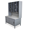 Marvel Group 40 Slot Mailroom Organizer with Cabinet, Riser MLG UTIL0064-AT