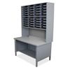 mailroom stations: Marvel Group - 40 Slot Mailroom Organizer, 1 Storage Shelf, Riser