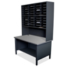 Marvel Group 40 Slot Mailroom Organizer, 1 Storage Shelf, Riser MLG UTIL0065-BK