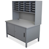 mailroom stations: Marvel Group - 20 Slot Mailroom Organizer with Cabinet, Riser