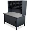 Marvel Group 20 Slot Mailroom Organizer with Cabinet, Riser MLG UTIL0070-BK