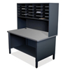 Marvel Group 20 Slot Mailroom Organizer, 1 Storage Shelf, Riser MLG UTIL0071-BK