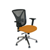 Marvel Group Executive Mesh Chair, Orange Fabric/Aluminum Base MLG WMCEXFA-F6551