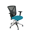 Marvel Group Executive Mesh Chair, Teal Fabric/Aluminum Base MLG WMCEXFA-F6553
