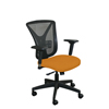 Marvel Group Executive Mesh Chair, Orange Fabric/Black Base MLG WMCEXFB-F6551