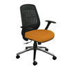 Marvel Group Wave Chair, Orange Fabric/Aluminum Base MLG WPCOPFA-F6551