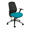 Marvel Group Wave Chair, Teal Fabric/Aluminum Base MLG WPCOPFA-F6553