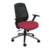 Marvel Group Wave Chair, Raspberry Fabric/Aluminum Base MLG WPCOPFA-F6557