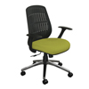 Marvel Group Wave Chair, Lime Fabric/Aluminum Base MLG WPCOPFA-F6561