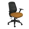 Marvel Group Wave Chair, Orange Fabric/Black Base MLG WPCOPFB-F6551
