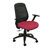 Marvel Group Wave Chair, Raspberry Fabric/Black Base MLG WPCOPFB-F6557