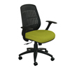 Marvel Group Wave Chair, Lime Fabric/Black Base MLG WPCOPFB-F6561